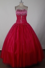2012 Cheap Ball Gown Strapless Floor-Length Quinceanera Dresses Style JP42684