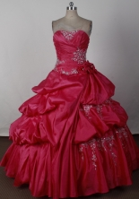 2012 Cheap Ball Gown Strapless Floor-Length Quinceanera Dresses Style JP42685