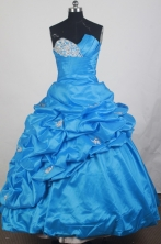 2012 Cheap Ball Gown Sweetheart Neck Floor-Length Quinceanera Dresses Style JP42633