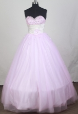 2012 Cheap Ball Gown Sweetheart Neck Floor-Length Quinceanera Dresses Style JP42643
