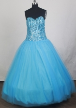 2012 Cheap Ball Gown Sweetheart Neck Floor-Length Quinceanera Dresses Style JP42652