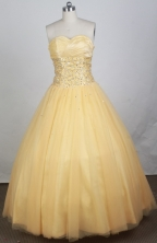 2012 Luxurious A-line Sweetheart Neck Floor-Length Quinceanera Dresses Style JP42609