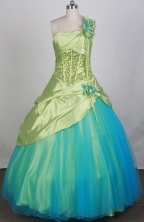 2012 Pretty Ball Gown One Shoulder Neck Floor-Length Quinceanera Dresses Style JP42606