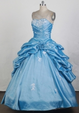 2012 Pretty Ball Gown Strapless Floor-Length Quinceanera Dresses Style JP42627