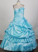 2012 Pretty Ball Gown Sweetheart Neck Floor-Length Quinceanera Dresses Style JP42621
