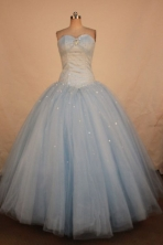 Affordable Ball Gown Sweetheart Floor-length Organza Quinceanera dress TD2417