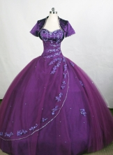 Affordable Ball Gown Sweetheart-neck Floor-length Tulle Quinceanera Dresses Style FA-C-080
