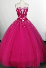 Affordable Ball Gown Sweetheart-neck Floor-length Tulle Quinceanera Dresses Style FA-C-090