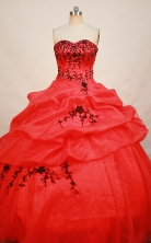 Affordable Ball gown Strapless Floor-length Quinceanera Dresses Style FA-W-256