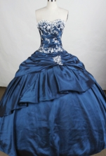 Beautiful Ball Gown Sweetheart-neck Floor-length Taffeta Quinceanera Dresses Style FA-C-087