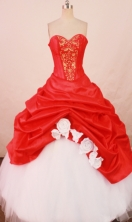 Beautiful Ball gown Sweetheart-neck Floor-length Quinceanera Dresses Style FA-W-281