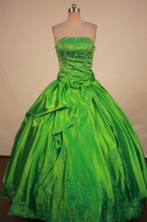 Brand New Ball Gown Strapless Floor-Length Quinceanera Dresses TD2432