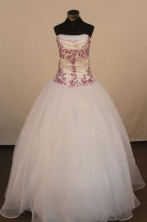 Brand New Ball Gown Strapless Floor-Length Quinceanera Dresses TD2433