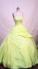 Brand new Ball gown Strapless Floor-length Quinceanera Dresses Style FA-W-232
