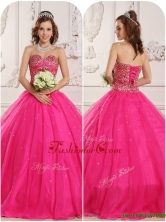 Cheap A Line Beading Quinceanera Gowns in Hot Pink QDZY090CFOR