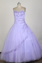 Cheap Ball Gown Strapless Floor-length Lilac Quinceanera Dress X0426075