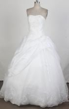 Cheap Ball Gown Strapless Floor-length Quinceanera Dress ZQ12426016