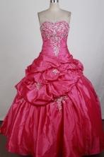 Cheap Ball Gown Strapless Floor-length Quinceanera Dress ZQ1242604