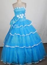Cheap Ball Gown Strapless Floor-length Quinceanera Dress ZQ12426054