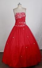 Cheap Ball Gown Strapless Floor-length Quinceanera Dress ZQ1242606