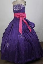 Cheap Ball Gown Strapless Floor-length Quinceanera Dress ZQ12426066