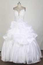 Cheap Ball Gown Strapless Floor-length White Quinceanera Dress X0426087