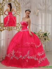 Cheap Ball Gown Sweetheart Appliques Quinceanera Dresses  QDZY566AFOR