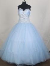 Cheap Ball Gown Sweetheart Floor-length Quinceanera Dress ZQ12426072