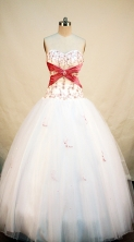 Cheap Ball gown Strapless Floor-length Quinceanera Dresses Style FA-W-214