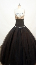 Cheap Ball gown Strapless Floor-length Quinceanera Dresses Style FA-W-231