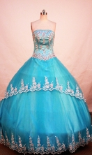 Cheap Ball gown Strapless Floor-length Quinceanera Dresses Style FA-W-274