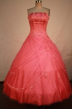 Cheap Ball gown Strapless Floor-length Quinceanera Dresses Style FA-W-340