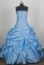 Cheap Ball gown Strapless Floor-length Quinceanera Dresses Style FA-W-r02