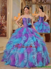 Cheap Multi Color Ball Gown Sweetheart Quinceanera Dresses  QDZY453AFOR