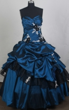Discount Ball gown Sweetheart Floor-length Quinceanera Dresses Style FA-W-r07