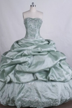 Elegant Ball gown Sweetheart Floor-Length Lime Green Quinceanera Dresses Style FA-Y-119