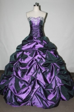 Exquisite Ball gown Sweetheart neck Floor-Length Purple Quinceanera Dresses Style FA-Y-09