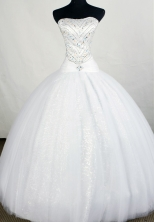 Formal Ball Gown Strapless Floor-length Beading Quinceanera Dresses Style FA-C-083