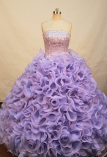 Gorgeous Ball gown Strapless Floor-length Quinceanera Dresses Style FA-W-221