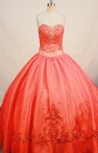Gorgeous Ball gown Strapless Floor-length Quinceanera Dresses Style FA-W-261