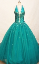 Gorgeous Ball gown V- neck Floor-length Quinceanera Dresses Style FA-W-226