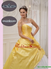 Modern Ball Gown Strapless Quinceanera Dresses with Beading QDZY366CFOR