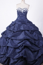 Modest Ball Gown Sweetheart Floor-length Taffeta Embroidery Quinceanera dress Style FA-L-004