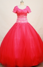 Modest Ball gown Scoop Floor-length Quinceanera Dresses Style FA-W-268