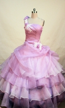 Perfect Ball gown One shoulder neck Floor-length Quinceanera Dresses Style FA-W-229