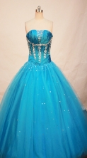 Popular Ball gown Strapless Floor-length Quinceanera Dresses Style FA-W-225