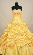 Popular Ball gown Strapless Floor-length Quinceanera Dresses Style FA-W-259