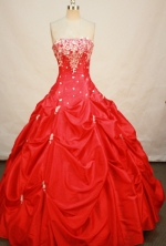 Popular Ball gown Strapless Floor-length Quinceanera Dresses Style FA-W-260