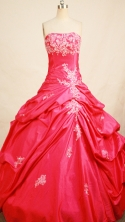 Popular Ball gown Strapless Floor-length Quinceanera Dresses Style FA-W-276