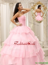 Popular Beading and Ruffles Baby Pink Quinceanera Dresses  MLXN911415AFOR